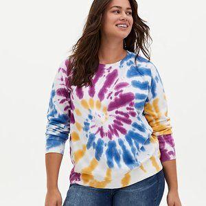Torrid Multi Tie-Dye Fleece Sweatshirt 4X